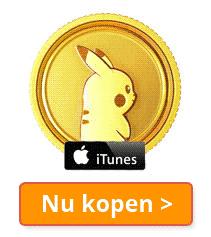 Pokémon Go tegoed kopen iTunes