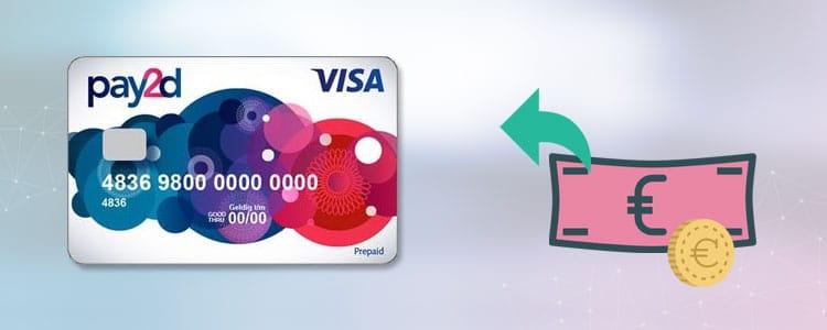 pay2d prepaid Visa card