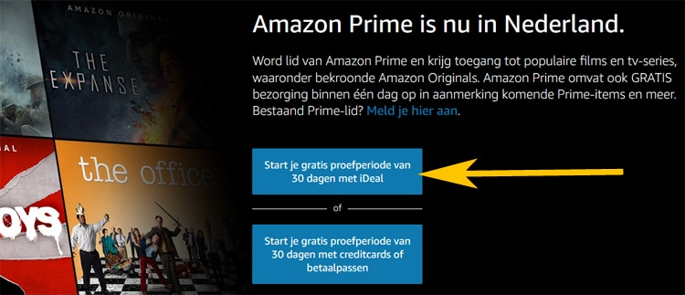 Stap 1: Amazon Prime Video iDEAL