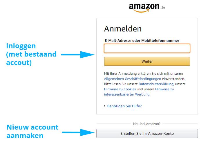 Amazon Prime account inloggen of aanmaken