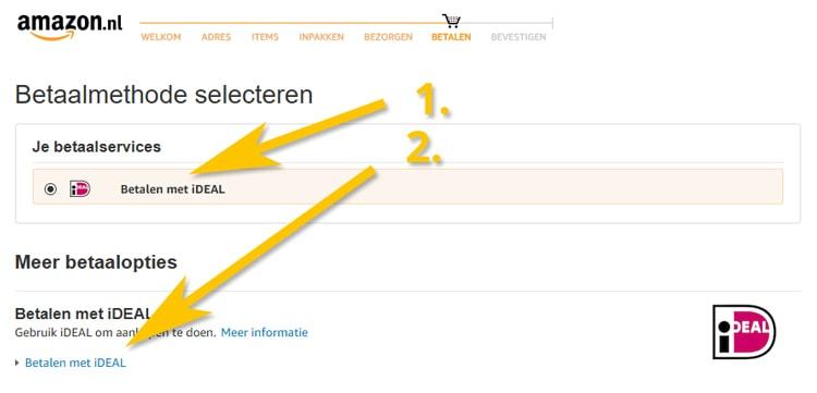 Bestellen en afrekenen met iDEAL op Amazon.nl
