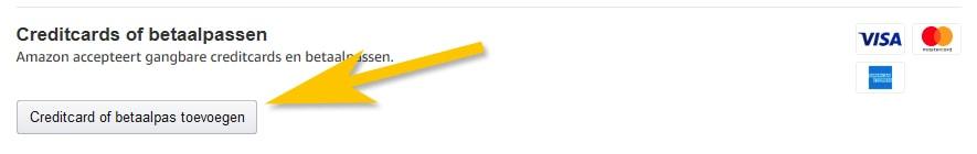 Debit card toevoegen tijdens bestellen op Amazon.nl