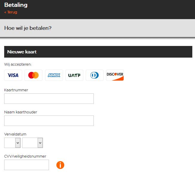 easyJet betalen met een prepaid creditcard