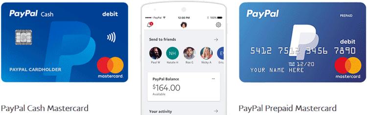 PayPal Cash en Prepaid Mastercard